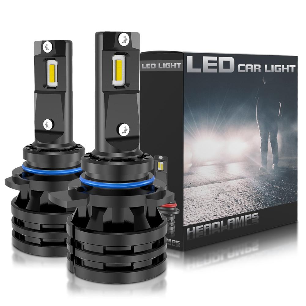 1 par, 9012 HIR2, 16000LM, Bombillas de faros LED, H1, H3, H4, H7, H8, H9, H11, HB3, HB4, 9005, 9006, bombillas LED Turbo para coche