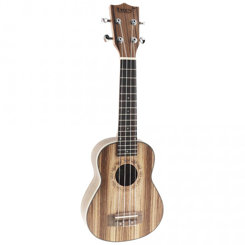21 Inch Soprano Ukulele Zebra Wood 15 Fret Four Strings Guitar + Bag + Tuner + String + Strap + Cloth with Accessories enlarge