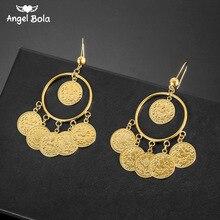 Islam musulman pièces anciennes boucles doreilles couleur or arabe argent signe turc Allah boucle doreille moyen-orient bijoux livraison directe