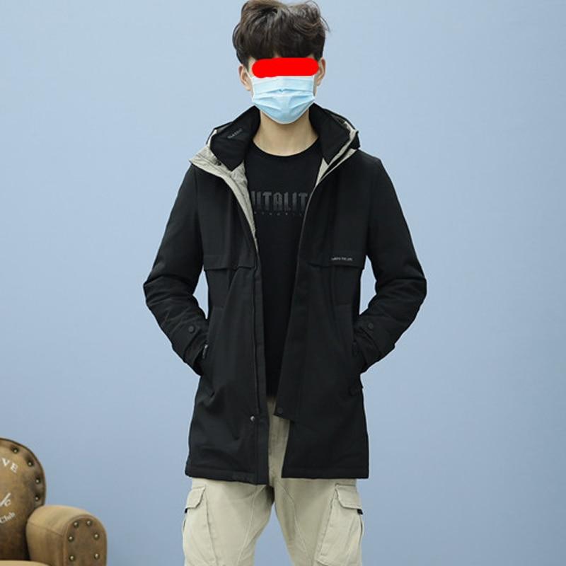 2021 New Big Boys Duck Down Coats & Jacket Teens Teenager Winter Thick warm Long Parkas Windbreaker Male Black Plus Size XXL