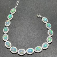 summer new style 925 silver inlaid natural opal bracelet womens bracelet fine inlaid luxurious atmosphere