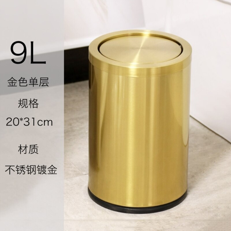Kids Room Anti Odor Trash Can Kitchen Bedroom Waste Large Metal Trash Can Party Garden High Cubo Basura Household Cleaning LTF5 enlarge