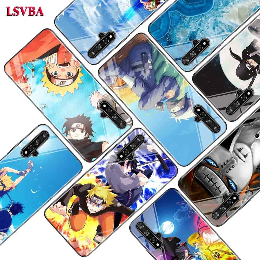 Cubierta negra Naruto del Sasuke para Huawei Honor 10i 9X8X20 10 9 Lite 8 8A 7A 7C Pro Lite Super brillante funda de teléfono