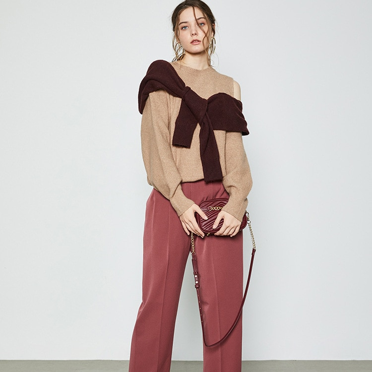 свитер женский 2020 Autumn And Winter Woman Sweaters Sexy Shoulder Strapless Knitted Tops  Fake Two Piece Pullover свитер enlarge
