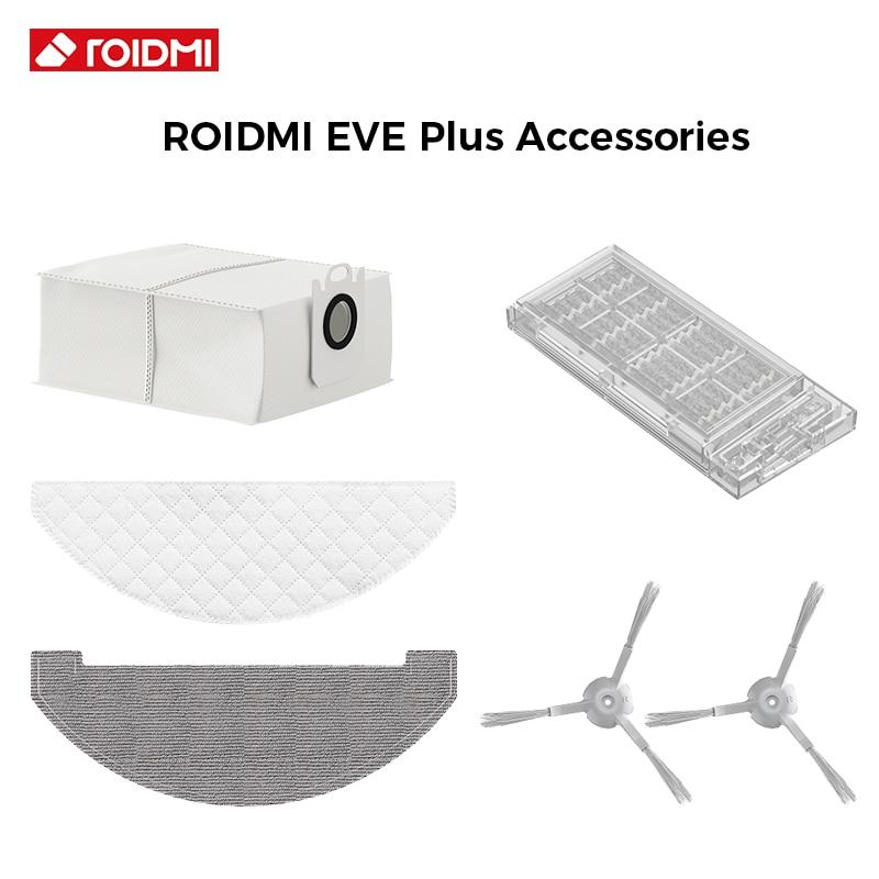 Original ROIDMI EVE Plus Vacuum Cleaner Parts Dust Bag Disposable Wipes Repetitive Wipes Accessories