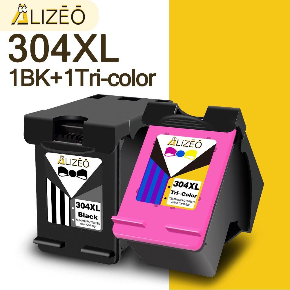 Alizeo 304 XL الحبر محبرة لـ HP 304 XL المعاد ل HP Deskjet 2620 3724 3755 3758 الحسد 5010 5020 5032 5034 5052