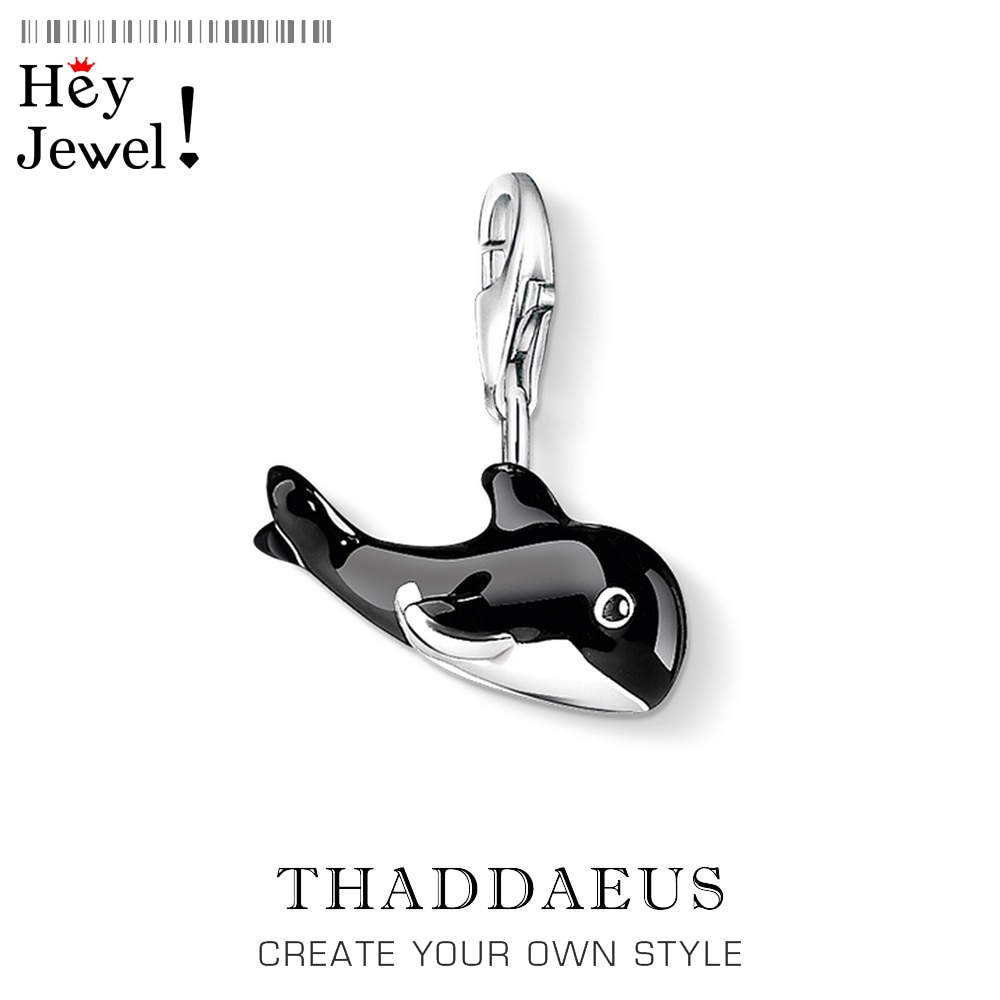 925 пробы серебряный милый кулон с изображением Кита, очаровательный браслет для женщин и мужчин, весна 2020, новый бренд, Океанский подарок, модное ювелирное изделие