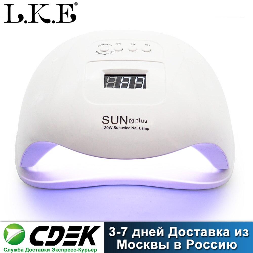 Secador de uñas portátil LKE SUN X, lámpara UV LED para todo tipo de esmaltes de uñas en Gel, con Sensor automático, pantalla LCD y 4 temporizador para decoración de uñas