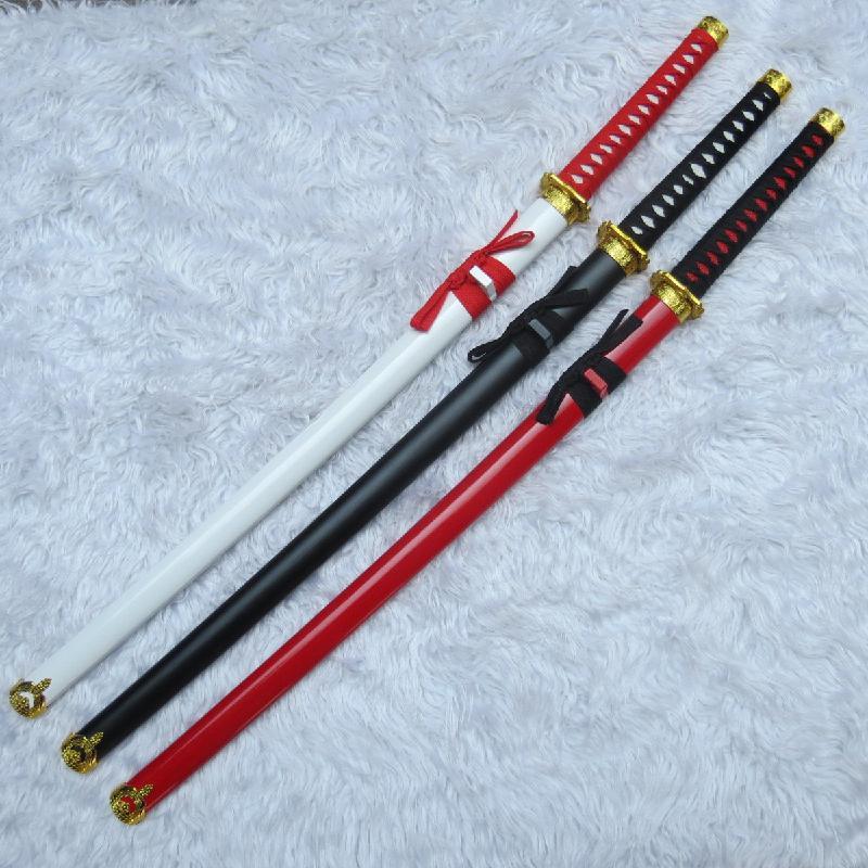 تأثيري السيف الخشبي سلاح الدعائم أنيمي الطرفية 3 اللون محاكاة تأثيري زي المرحلة مهرجان الخشب الدعائم السيف الأسلحة
