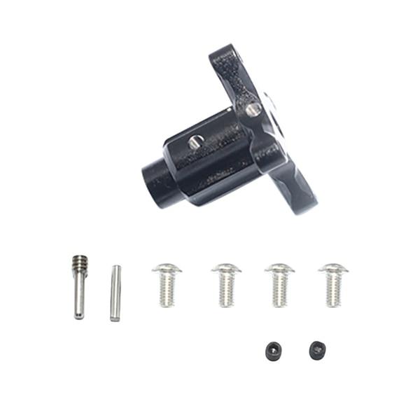 Saídas diferenciais dianteiras/traseiras/centrais de alumínio para as peças do carro de arrma kraton 6s blx rc, preto