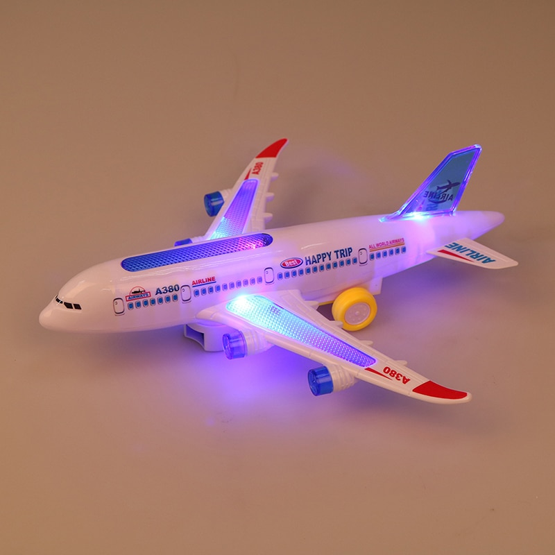 Новинка DIY сборка самолёт Аэробус автопилот вспышка фотовспышка музыка освещение игрушки фотообои DIY игрушка для детей