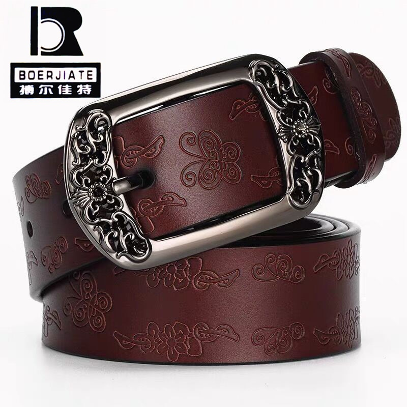 Cinturones de cuero auténtico para mujer, correa de piel de vaca de...