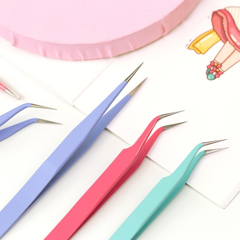 Карамельный цвет Нержавеющаясталь Пинцет DIY Scrpabooking лента Стикеры инструмент бумага для журнала гаджеты практические переносные пинцеты