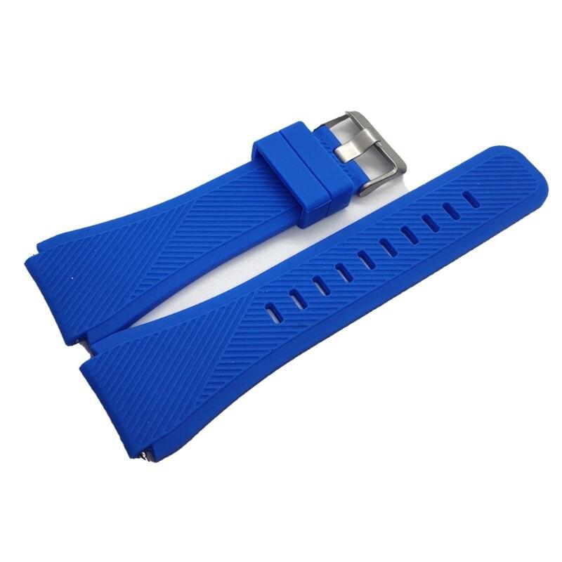 Купить с кэшбэком Soft Soft Silicone Replacement Watch Band Wrist Strap Sport Watch Bracelet Belt For Samsung Galaxy Watch 46MM/Samsung Gear Gear2
