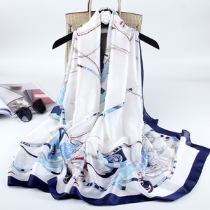 Women's Long Silk Scarf Summer All-Match Scarf Spring and Autumn Thin Air Conditioning Shawl
