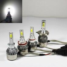 1PCS LED Cars Lamp H 1 3 4 7 9 11 9005 9006 COB 36W Headlight Bulbs 6000K Waterproof 12V Cars Styling Bulb Auto Headlights