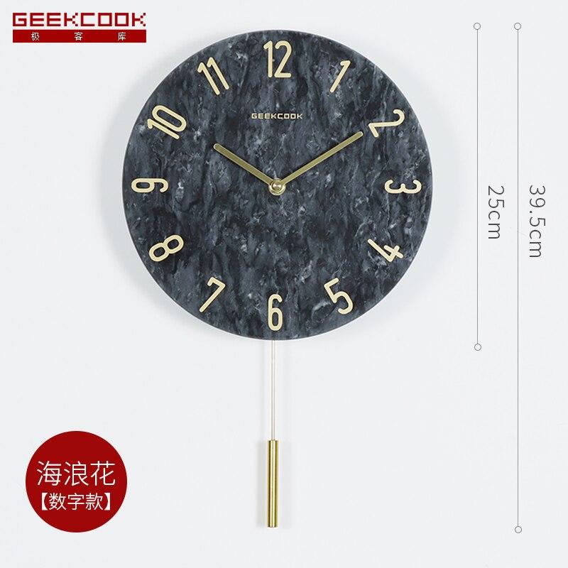 Nordic grande pêndulo relógio de parede sala estar orologio parete relógio de parede silencioso quarto casa moderna decoração b60