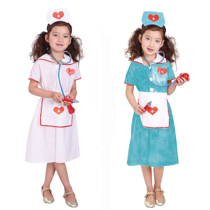 Umorden Children's Day Carnival Party Halloween Nurse Costumes Girl Kids Doctor Costume Role Play Cosplay Suit Dress for Girls children s day carnival party halloween surgeon doctor costumes boys kids child occupation cosplay costume suit blue