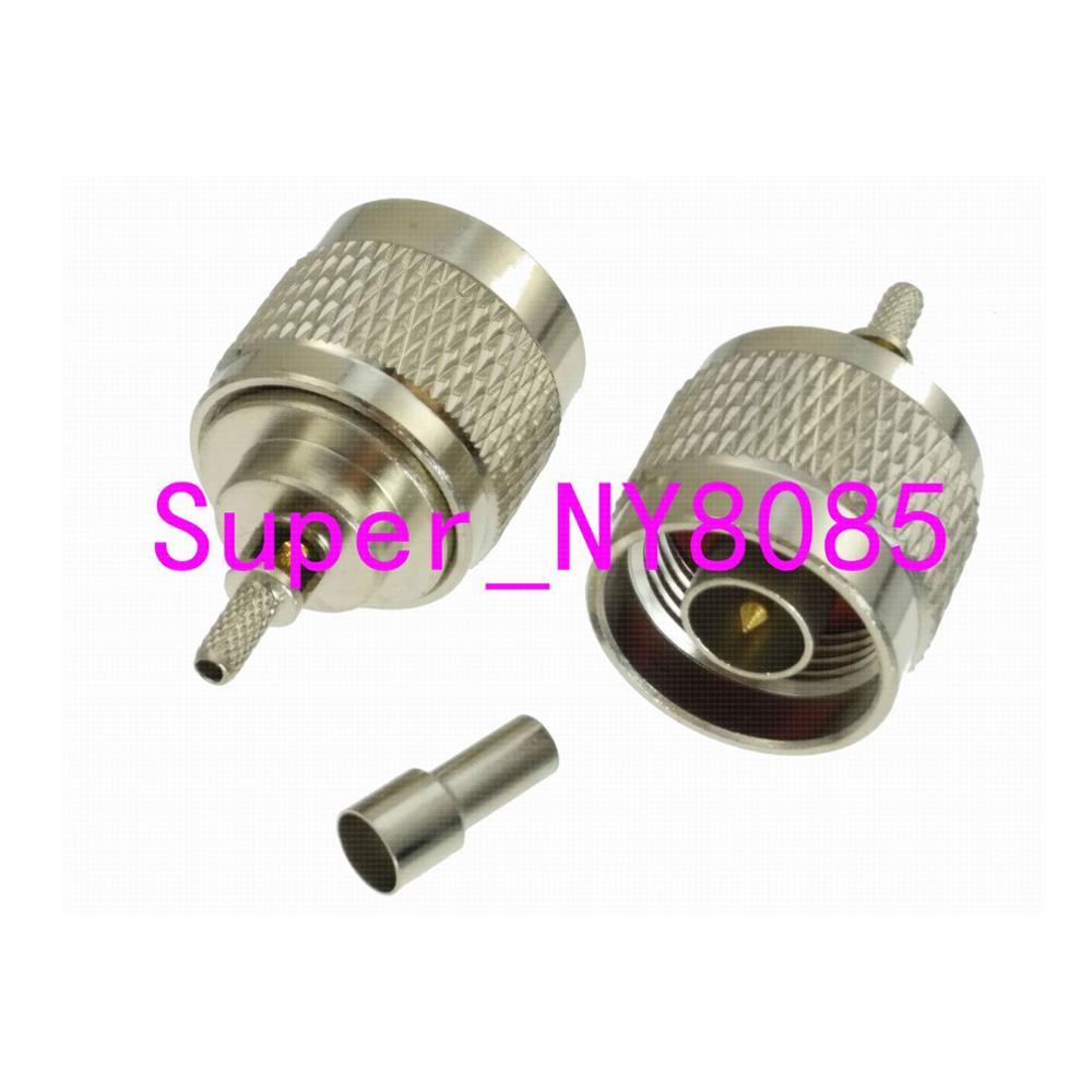 Conector N macho, Conector de ventana RG174 RG316 LMR100, Cable recto