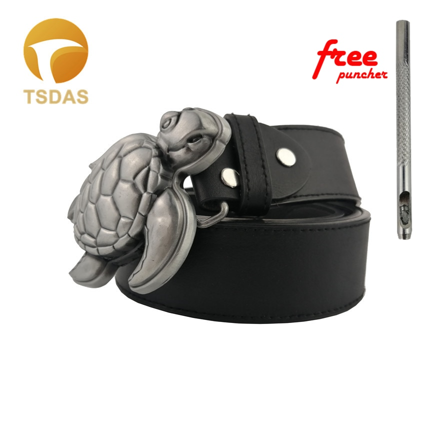 Новая крутая 3D Черепаха серебряная пряжка для ремня 90*65 мм металлическая пряжка ремня с изображением животного подходит 4 см широкий ремень ...