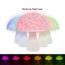 2020 New Arrival Rechargeable Mushroom Light 3d Print Light Moon Lamp Home Decor Creative Battery Po