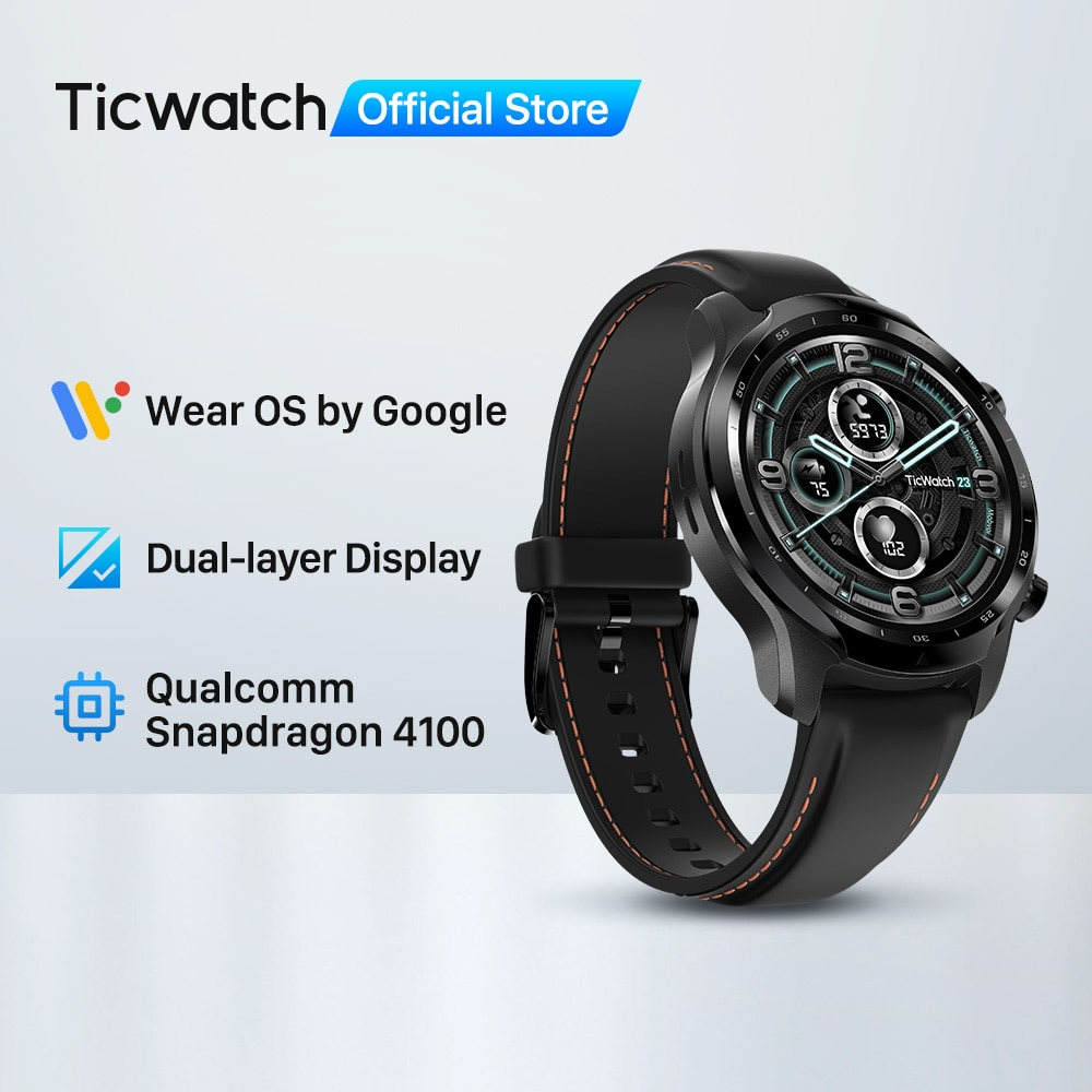 TicWatch Pro 3 GPS Wear OS Smartwatch Men's Sports Watch Dual-layer Display Snapdragon Wear 4100 8GB ROM 3~45 Days Battery Life