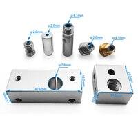 Полностью металлический комплект горячего торца MK10 с охлаждающим нагревом Blcok 0,4 мм Nozzel для Wanhao i3 /MakeBot /DreMEL-I3 /Creator Pro, детали для 3D-принтера