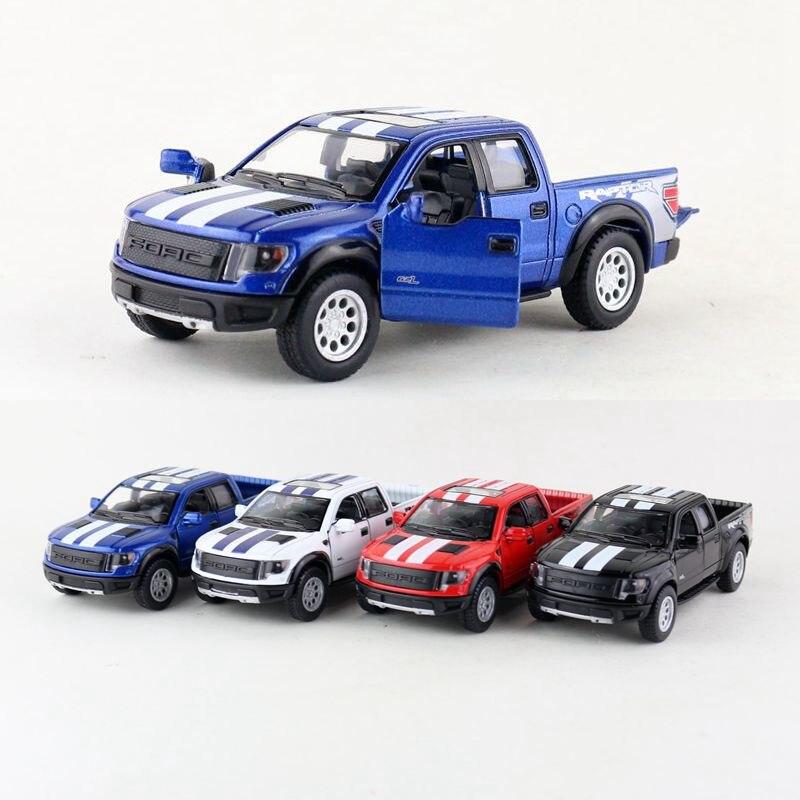 KINSMART Modelo Fundido/146 Scale/2013 Ford SVT Raptor F-150 SuperCrew Caminhão/Puxar Para Trás Brinquedo Do Carro/ coleção de ensino/Presente/Kid