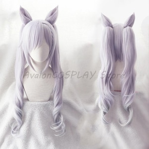 NEW 2020 Hot Game Genshin Impact Keqing Cosplay Halloween Wig Yuheng Stars Keqing Customized Cosplay Hair