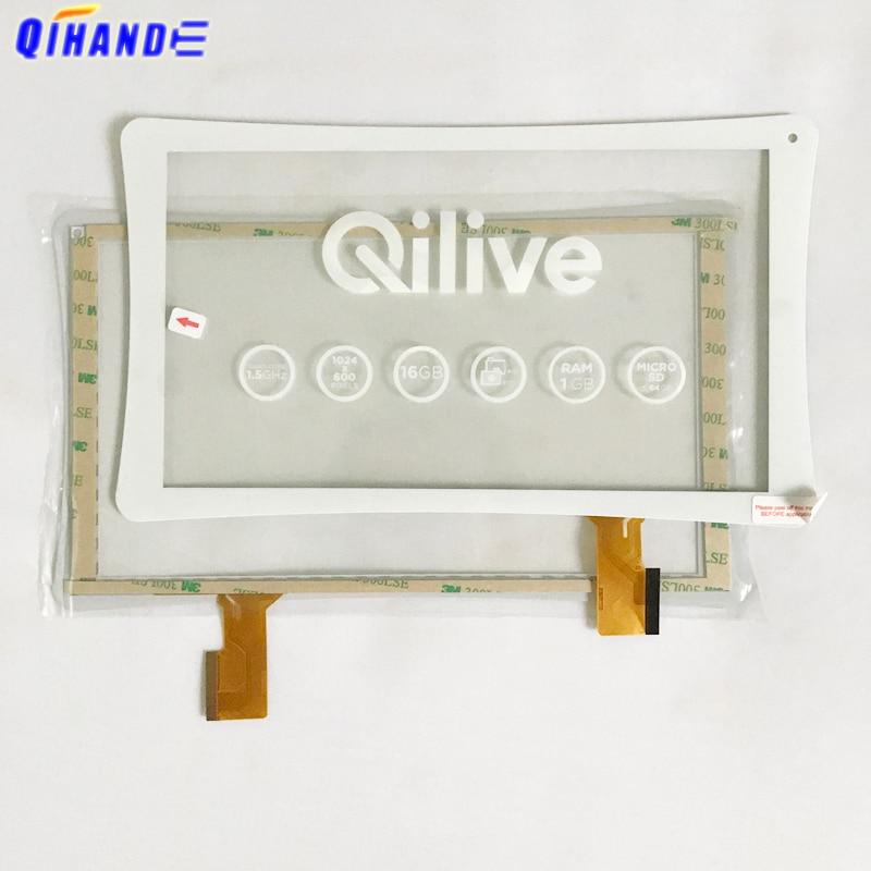 Nuevo YJ819FPC-V1 táctil para Tablet Qilive, Panel de pantalla táctil, Sensor digitalizador de piezas de repuesto