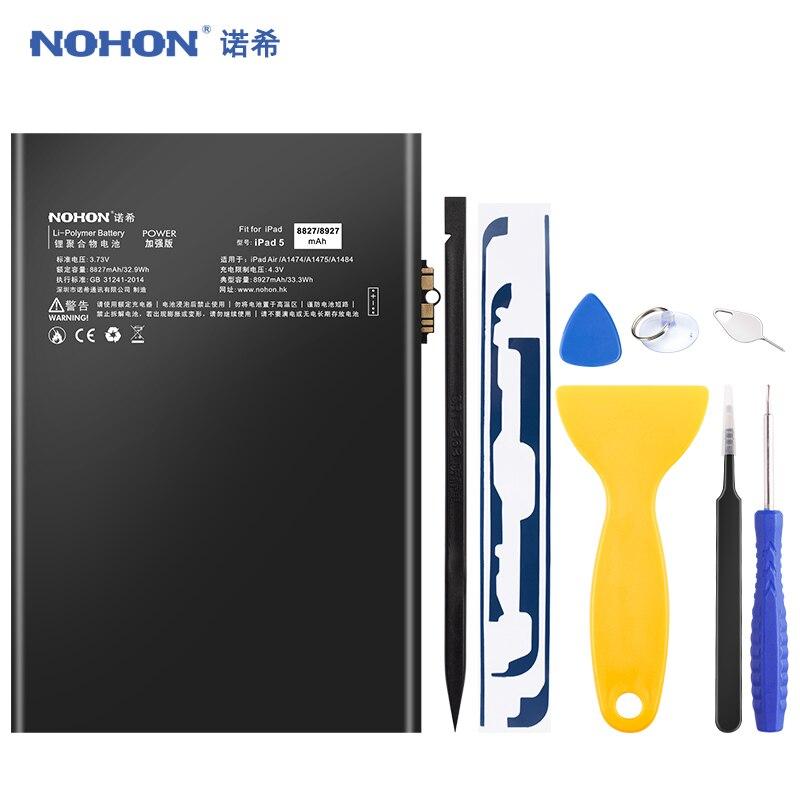NOHON батарея для iPad 5 Air iPad5 A1474 A1475 A1484 8927mAh Замена Bateria литий-полимерный планшет Batarya + Бесплатные инструменты
