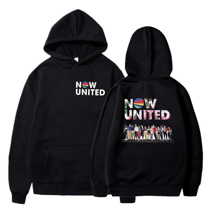 Now United Printed Mens Pullover Hoodies Clothes Men/Women Casual Hooded Streetwear Sweatshirts Hip Hop Harajuku Male Tops