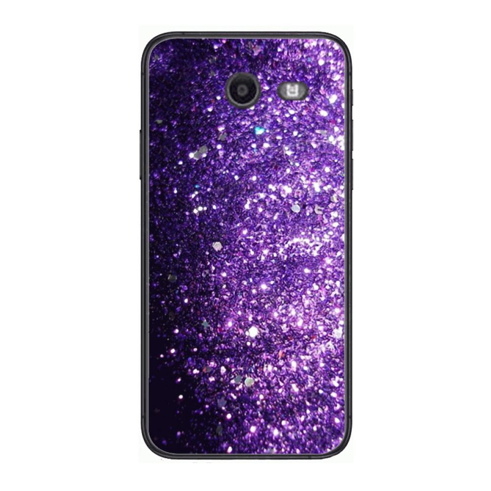 Cover Lovely Purple Glitter Phone Case Hull For Samsung Galaxy J 4 3 5 6 7 8 EU 2018 Plus 2017 Black Shell Art Cell Cover TPU  - buy with discount