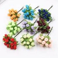 Bouquet de petites roses artificielles en forme de gourde  144 pieces lot  pour decoration de mariage  maison  carte artisanale  cadeau  couronne  DIY