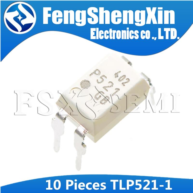 10 Uds TLP521GB DIP4 TLP521 DIP-4 TLP521-1 TLP521-1GB controladores programables DIP AC/dc−módulo de entrada relé de estado sólido