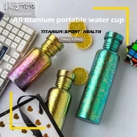 tito titanium bike bottle ultralight bicycle water bottle outdoor sports running cycling mountaineering camping water bottle