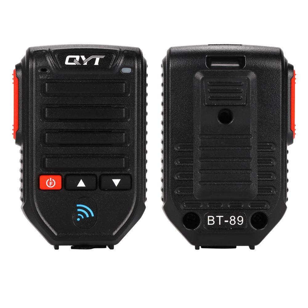 2PCS Baofeng BT-89 Portable Bluetooth Wireless Walkie Talkie Microphone QYT KT Series Mobile Broadcast Speaker 10meters Range