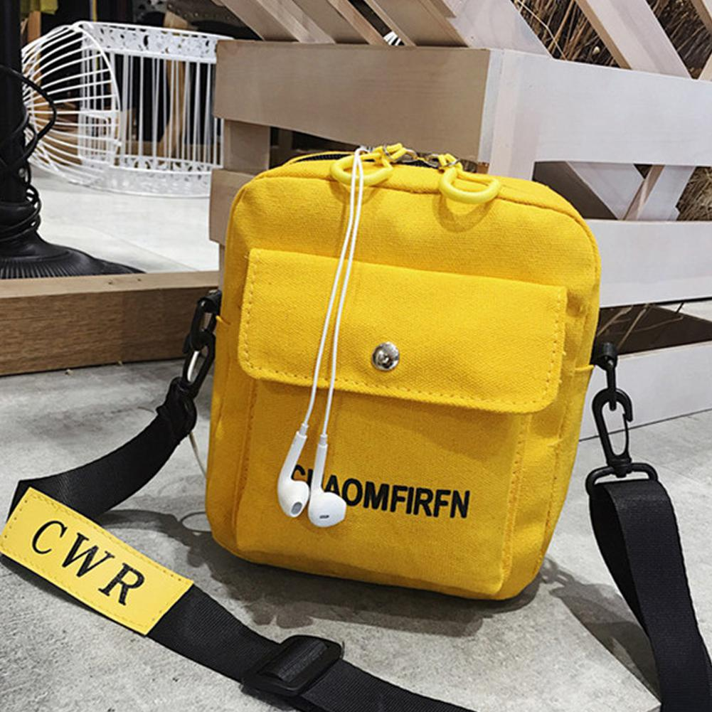 Bolso tipo cartera de un solo hombro para mujer de PinShang, Mini bolso de lona para monedero, almacenamiento de teléfono