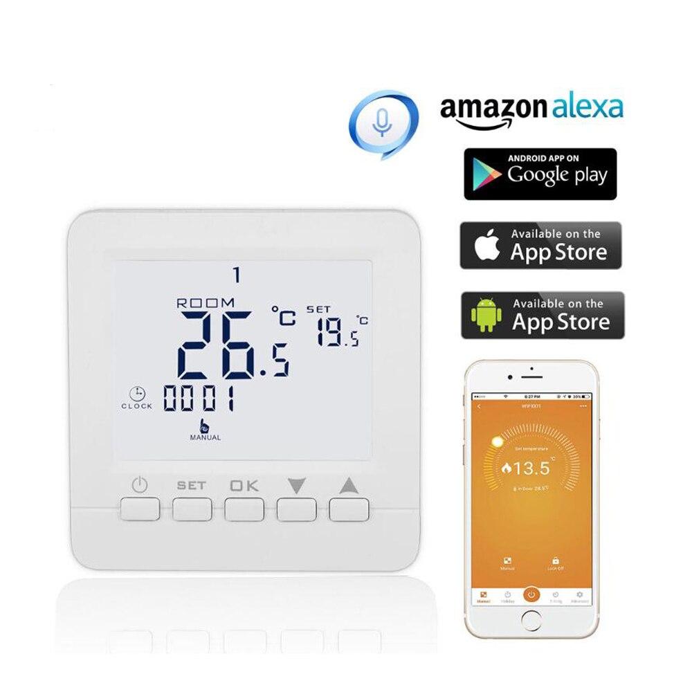 واي فاي الذكية ترموستات التدفئة تحكم في درجة الحرارة للبرمجة الكهربائية التدفئة الكلمة يعمل مع أليكسا جوجل المنزل