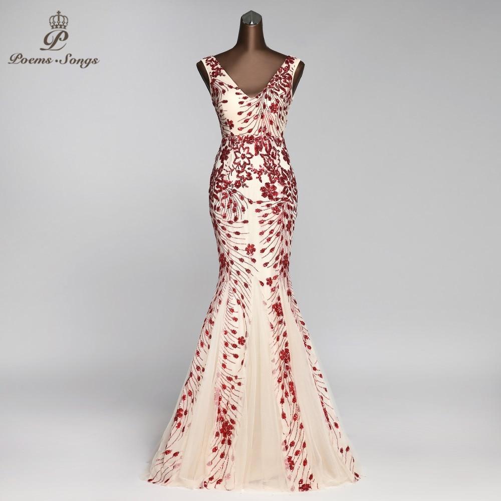 فستان سهرة بتصميم حورية البحر ، أنيق ، ياقة على شكل v ، رسن ، فستان سهرة ، فستان سهرة ، نمط جديد