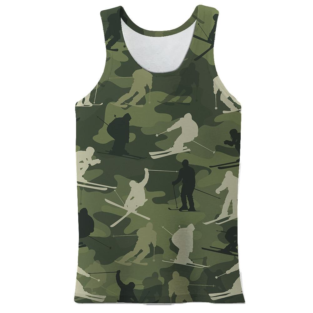 2021 Summer 3d Printed Men Vest Casual Tank Tops Sleeveless Male Bodybuilding Clothing Singlet Tees