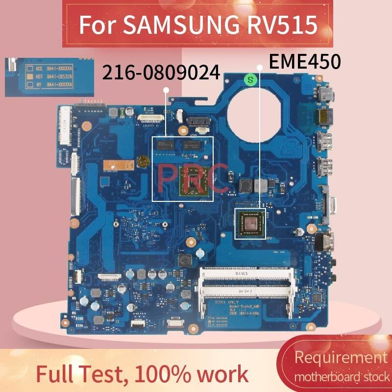 BA92-09429A placa-mãe do portátil para samsung rv515 otebook mainboard BA41-01534A amd 216-0809024 ddr3