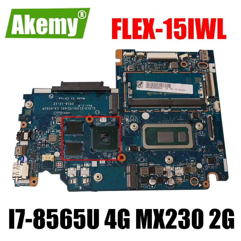 لينوفو Flex-15iwl S340-14IWL S340-15IWL اللوحة المحمول LA-H101P مع وحدة المعالجة المركزية I7-8565U RAM 4G GPU MX230 2G 100% اختبار العمل
