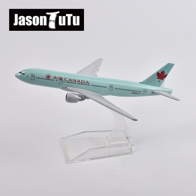 jason tutu 16cm ar canada boeing 777 aviao modelo aeronaves diecast metal 1 400 escala