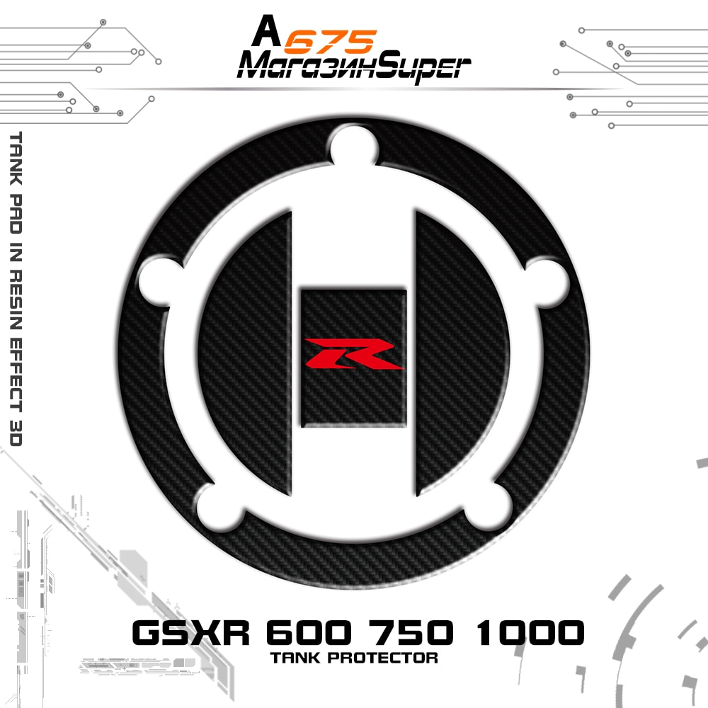 Para Suzuki GSXR 600 GSXR 750 GSXR 1000 K1 K2 K3 K4 K6 K7 K8 K9 Hayabusa GSX1300R Genuíno 3D Fibra De Carbono Tanque Pad Tampa de Enchimento