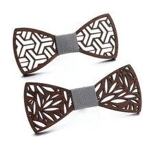 Accessoires en bois Style occidental   Nœud papillon, faux col, hommes chemise rayée, nœud papillon fait à la main