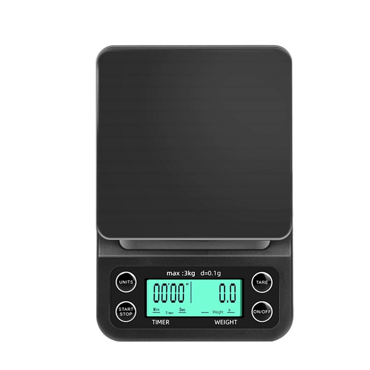 ميزان قهوة إلكتروني مع مؤقت ، 0.1 جرام ، دقة عالية ، رقمي ، LCD ، يعمل بالبطارية ، وزن المطبخ ، للمنزل