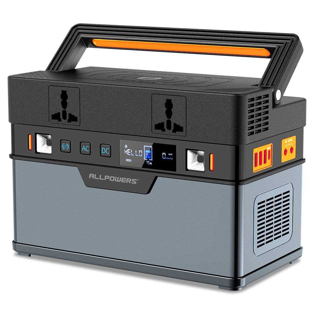 ALLPOWERS 500W Portable Generator 666Wh / 185200mAh Power Station Emergency Power Supply Pure Sine W