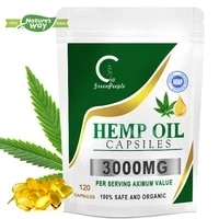 GreenPeople Nature Esculent Hemp Oil Capsule Anti-Ageing Relieve Joint Pain Stress Relief Help Sleep Healthy product