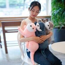 1pc 40/60/80CM belle loutre en peluche jouets en peluche réaliste sauvage animaux poupées doux paresseux oreiller noël chambre décor cadeau pour les enfants